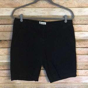 Size 10 J. Crew Factory Black Bermuda Shorts